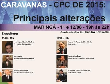 Caravanas -  CPC de 2015: Principais Alterações